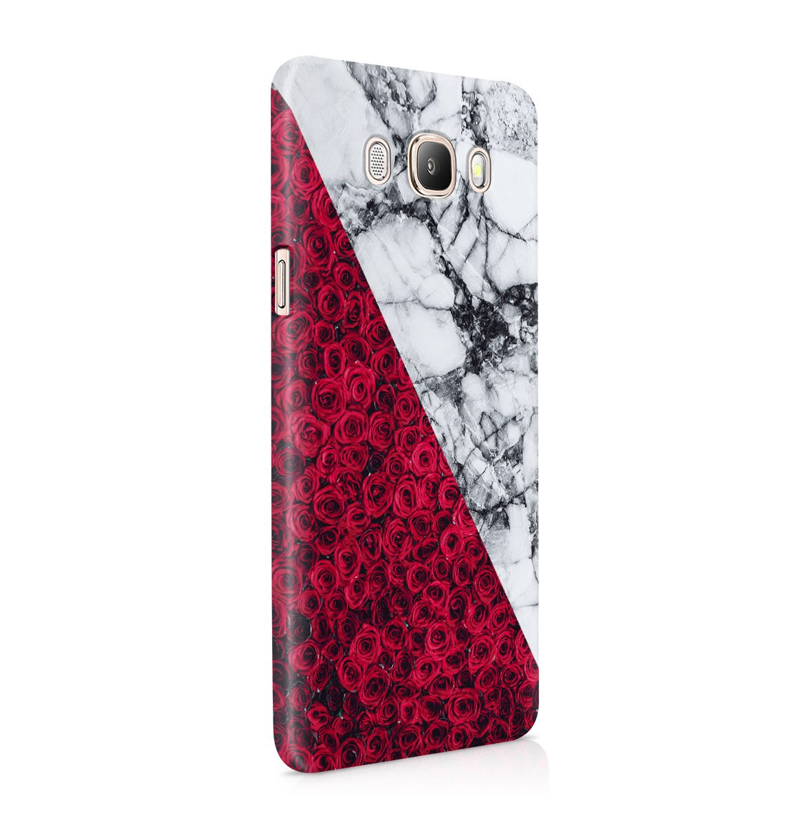 Grey Marble With Red Roses Samsung Galaxy J5 2016 Snap-On Hard Plastic Protective Shell Case Cover C