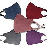 HIVEHYPE 5 PCS Premium Cotton Face Mask, 100% Cotton Breathable Face Mask, Anti-dust Mouth Protect Cover, Unisex Reusable Fas