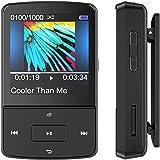Bluetooth 16GB Mini Clip Mp3 Player tragbar, 30 Stunden Wiedergabe Sport Musik Player mit FM, Unterstützt 64GB Micro SD Speicherkarte, von AGPTEK G15S, Schwarz