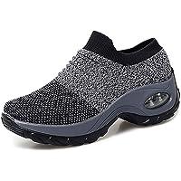 Chaussures de Course pour Femmes Chaussures de Running Mode Baskets Respirantes en Mesh athlétique léger Chaussures…