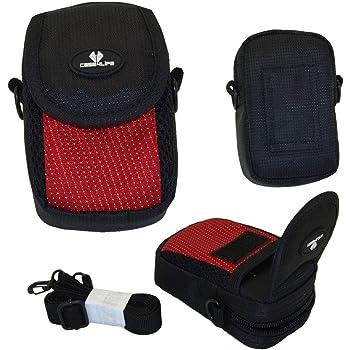 Case4Life Red/Black Soft Shockproof Digital Camera Case Bag for Nikon Coolpix L, S, A Series inc A100, A10, A300, L27, L28, L29, L30, L31, S33, S2900, S3100, S3600, S3700, S5300, S6600, S6700, S6900, S7000