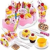 Webby DIY Pretend Play Birthday Cutting Cake (Multicolour) -75 Pcs