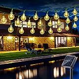 Guirlande Lumineuse Extérieur Solaire, BrizLabs 6.5M 30 LED Guirlande Lumineuse Boules Solaire Cristal 8 Modes Imperméable In
