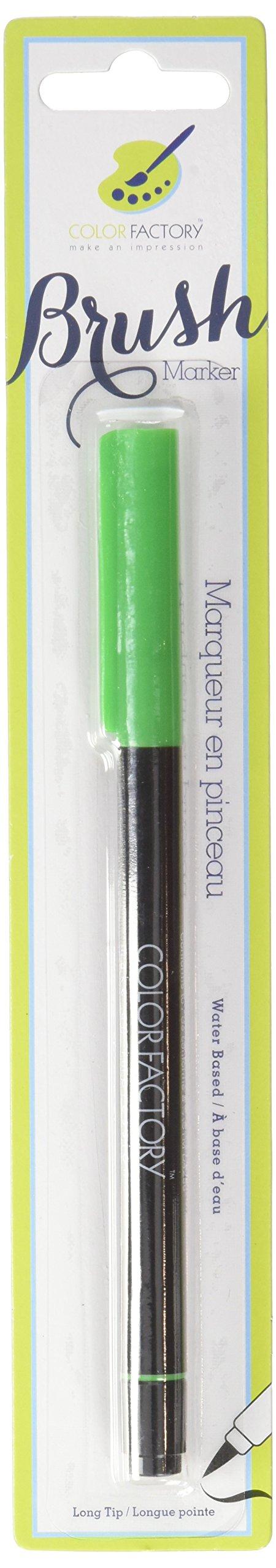 Multicraft Imports colore Factory-Pennarelli con punta a pennello, colore: verde, altri, multicolore