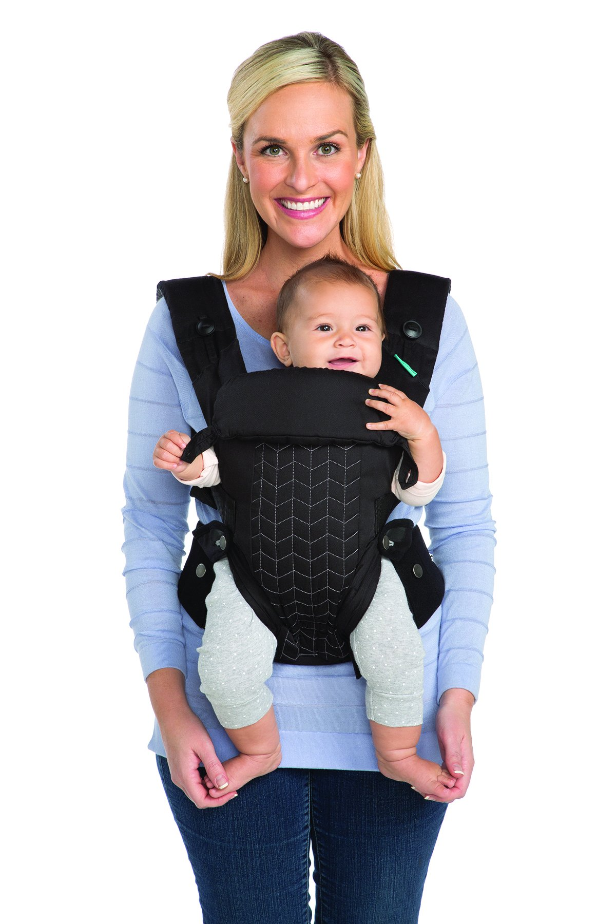 Infantino Upscale Carrier, Black, One Size Infantino Fully safety tested 4 way carrier Facing in newborn & m position 10