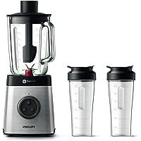 Philips HR3655/00 Standmixer (1400 Watt, ProBlend 6 3D Technologie, 2 Liter Glasbehälter, 2x Trinkbecher…