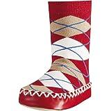 Playshoes Zapatillas con Suela Antideslizante Plaid, Pantuflas Niñas