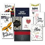 30 Premium Geburtstagskarten und Umschläge – inklusive E-Paper mit den schönsten Geburtstagsgrüßen für den Selbstdruck – 10 hochwertige Geburtstagskartendesigns – 100% Made in Germany – von Davom
