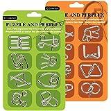 Funmo 16 Piezas Rompecabezas Metal, Set de 3D Puzzles Rompecabezas Mente Juego, Juguetes Mágicos de Alambre de Metal Educativ
