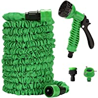E Basket 50FT 15M Car Washer Expandable Magic Flexible Garden Water Hose Plastic Hoses Pipe with Spray Gun Car Styling