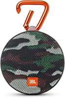 JBL Clip 2 Waterproof Portable Bluetooth Speaker (Camouflage), Regular Size, JBLclip2Squad