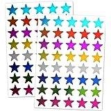 TownStix 1000 Pièces, 8 Couleurs, Étoile Récompense Autocollants Gommettes Brillants, 15mm