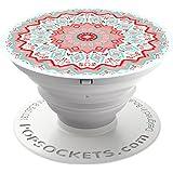 PopSockets - Ausziehbarer (Nicht Austauschbarer) Sockel und Griff für Smartphone und Tablet - Aztec Mandala Red