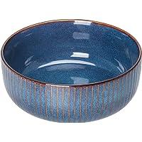 1800ml Saladier - Bol à Soupe, Bol de Nouilles,Bol de Céréales -Bleu(21cm)