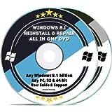 Windows 8.1 Repair & Reinstall Disc Set: Recovery Reboot Restore Fix Factory Reset - Basic or Professional 32 & 64 Bit…