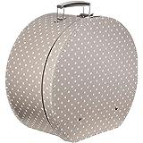 Lierys Caja para Sombrero Lunares Beige Mujer/Hombre - Made in The EU sombrerera Verano/Invierno