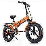 ENGWE Mountain Bike elettrica 500 W 20 pollici pneumatici antigrasso elettrico pieghevole spiaggia per adulti, scooter elettr