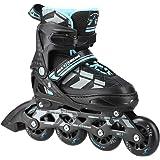 Inline skates Nils Extreme Harmony zwart/blauw ABEC7 maat 31-34 35-38 39-42 verstelbaar