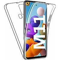 HUANGTAOLI Cover per Samsung Galaxy M11, Custodia Crystal Case TPU PC Protezione 360° Fronte Retro Full Body (SM-M115F…