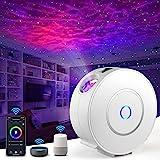 LED Alexa Sternenhimmel Projektor, Nigecue Smart LED Sternenprojektor 3D Galaxy mit App-/Sprachsteuerung, Timer, Kompatibel m