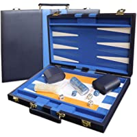 15-inch Backgammon Set - Blue Board