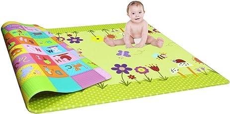 SCROSS Waterproof Double-Sided Child Activity Foam Floor Soft Kid Educational Gym Crawl Ocean Zoo Carpet Baby Play Mat,