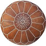 Maison de Marrakech / Mooie Tan Bruin Marokkaanse Poef Poef Cover, Ottomaanse