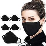 Confezione da 5 passamontagna protettivi a bandana | in cotone anti-polvere | per uomini e donne | 2 strati riutilizzabili e