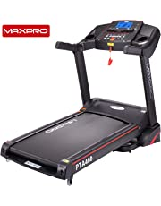 "MAXPRO PTA460 2.5HP (5 HP Peak) Motorized Folding Treadmill with Auto Incline, Auto Lubrication Fitness Machine with 5""Blue Backlight LCD Display for Home Cardio Fitness"