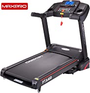 "MAXPRO PTA460 2.5HP (5 HP Peak) Motorized Folding Treadmill with Auto Incline, Auto Lubrication Fitness Machine with 5""Blue B"