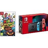Nintendo Switch (Neon Red/Neon Blue) + Super Mario 3D World + Bowser's Fury (Nintendo Switch)