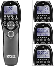 Neewer® LCD Display Shutter Release Wired Timer Remote Control NW-880/N3 for Canon EOS 7D, 5D Series, 1D 6D 50D 40D 30D 20D 10D Cameras