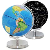Illuminated World Globe with Stand-Educational Gift Kids Globe Built in LED Light with World Map and Constellation View,Inter