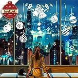 heekpek Pared de la Navidad Etiqueta Feliz Navidad Creativa de la Ventana del Copo De Nieve Pegatinas Dormitorio Sala de la P