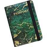 Supgear Reisepasshülle Halter, Hochwertigem Kunstleder Reisepass Schutzhülle mit RFID-Blocker für Kreditkarten, Ausweis…