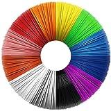 Uzone 3D Stylo PLA Filament 1.75mm, 12 Couleurs (Chaque Couleur 10 Pieds) Pochoir Aléatoire, PLA de filament de stylo 3D…