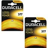 2 x Duracell 377 1.5 V Silver Oxide Watch Battery Batteries SR626SW AG4 626 D377