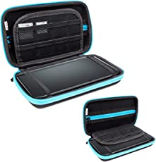Orzly Protective Hard Shell Portable Travel Case Pouch for Nintendo 3DS XL - BLUE on Black