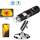 Auslese™ 50 to 1000x Magnification Endoscope, 8 LED USB 2.0 Digital Microscope, Mini Camera with Metal Stand, Compatible…