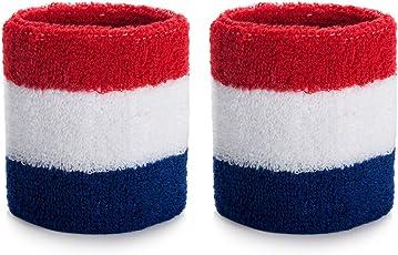 ONUPGO Handgelenk Schweißband Baumwolle Sport Schweißband für Frauen Herren - Feuchtigkeit Dochtstoff Armband (Paar)
