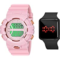 CERO A Digital Watch Shockproof Multi-Functional Sports Watch for Men's Kids Watch for Boys(Pack of 2)