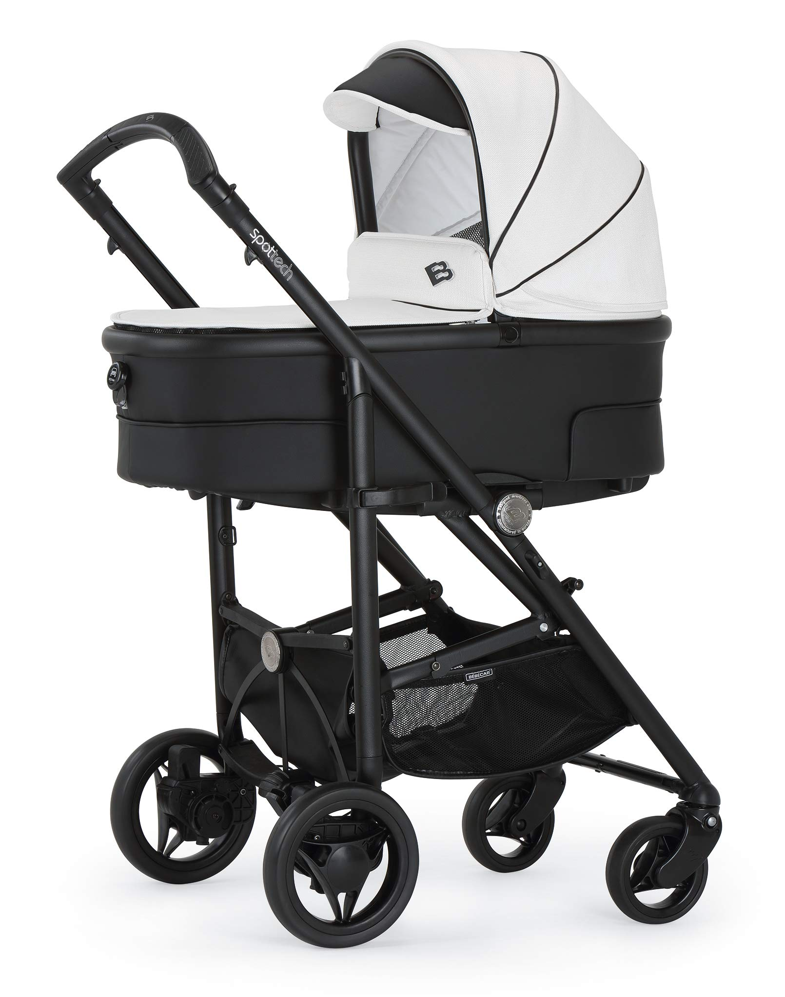 Bebecar Spot Tech Pram Pushchair in White Shadow 637 Bebecar  1