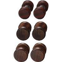 JewelryWe 1 Coppia Legno Orecchini in Acciaio Inox Piccole Studs Orecchini Uomo Donna Unisex, Marrone Tappi Orecchini…