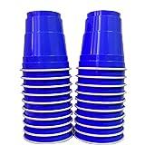 Pack de x20 Original Blue Shot Cups Officiels   Shots Américains 4cl Bleus   Beer Pong   Shooters Qualité Premium   Gobelets