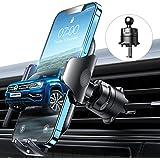VANMASS Kfz Handyhalterung Auto Lüftung [Hält Bombenfest] mit Stabilem Lüftungshaken 360°Drehbar 100% Silikonschutz Smartphon