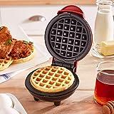 Harddo Mini wafelijzer machine, elektrische taartmachine voor pannenkoeken, koekjes voor pannenkoeken, antiaanbaklaag, diepe