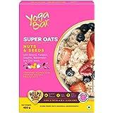 Yogabar Oatmeal Nuts & Seeds 400g | Premium Oats with High Fibre, 100% Whole Grain, Non GMO | Gluten Free Golden Oats for Wei