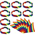 Create idea 15 Pcs Arc-en-Rayé LGBT Fierté Bandana Bandeau Bracelet Foulard Ensemble Kit