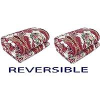 Adore u Microfiber 184 TC Reversible Blanket (Red_Standard)