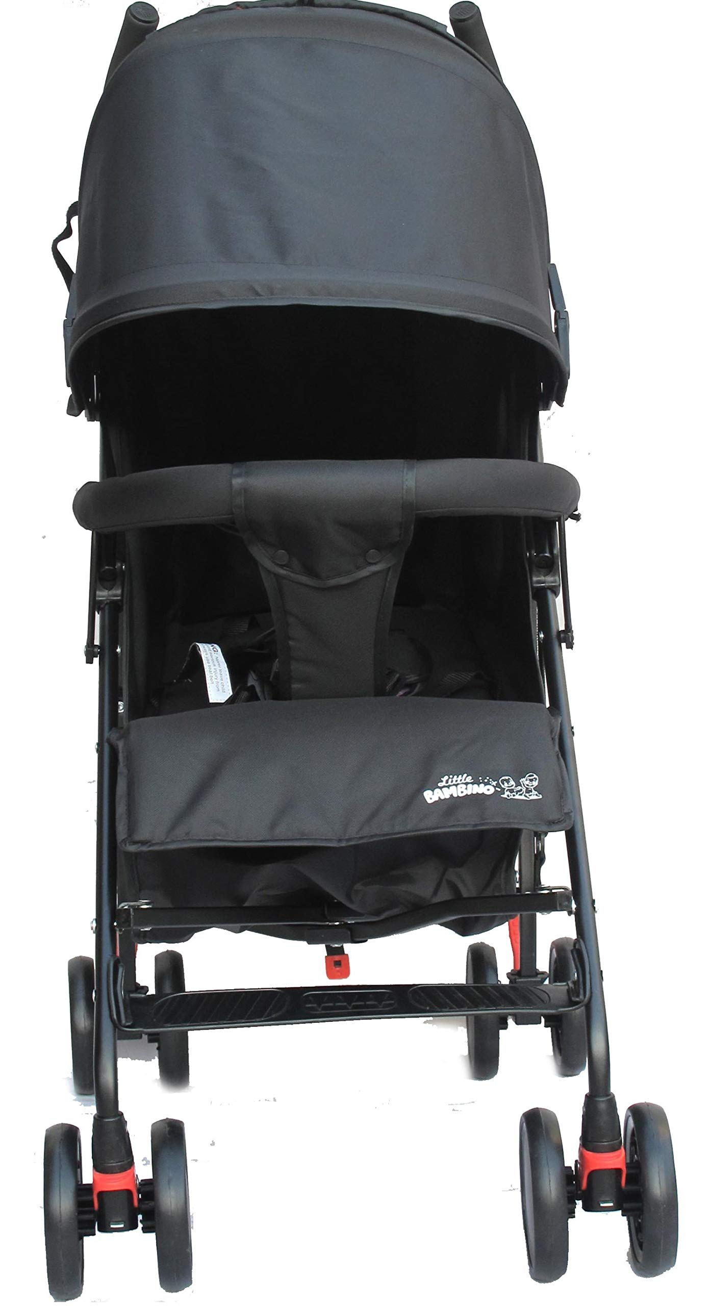 Stroller for Kids Lightweight Buggy Easy Fold Travel Stroller Buggy Foldable for Airplane Travel Cabin Size(Black) Little Bambino ✨Extendable upf 50+ sun canopy and built-in sun visor ✨EASY USAGE - One-hand foldable buggy makes taking your baby for travels or walks a simple pleasure. It could stand on its own so you could take care of your baby with less things to worry about. ✨ADJUSTABLE BACKREST - Travel stroller backrest can be adjusted. Suitable for children from 0 to 36 months 2